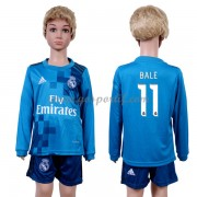 Real Madrid maillot de foot enfant 2017-18 Gareth Bale 11 maillot third manche longue..