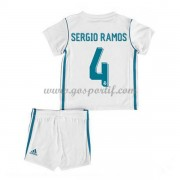 Real Madrid maillot de foot enfant 2017-18 Sergio Ramos 4 maillot domicile..
