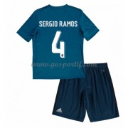 Real Madrid maillot de foot enfant 2017-18 Sergio Ramos 4 maillot third..