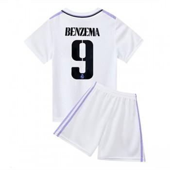 Real Madrid maillot de foot enfant 2018-19 Karim Benzema 9 maillot domicile