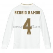 Real Madrid maillot de foot enfant 2019-20 Sergio Ramos 4 maillot domicile manche longue..