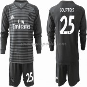 Real Madrid maillot de foot enfant 2019-20 Thibaut Courtois 13 gardien de but maillot domicile manch..