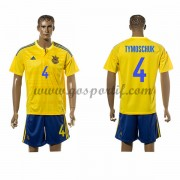 maillot de foot équipe nationale Ukraine 2016 Anatoliy Tymoschuk 4 maillot domicile..