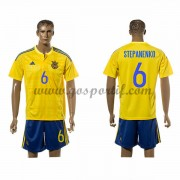 maillot de foot équipe nationale Ukraine 2016 Taras Stepanenko 6 maillot domicile..