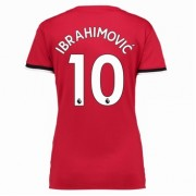 Manchester United maillot de foot femme 2017-18 Zlatan Ibrahimovic 10 maillot domicile..