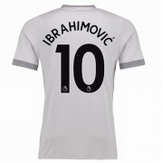 maillot de foot Premier League Manchester United 2017-18 Zlatan Ibrahimovic 10 maillot third..