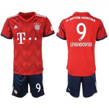 Bayern Munich maillot de foot enfant 2018-19 Robert Lewandowski 9 maillot domicile