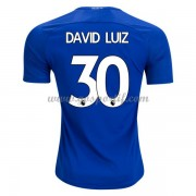 maillot de foot Premier League Chelsea 2017-18 David Luiz 30 maillot domicile..