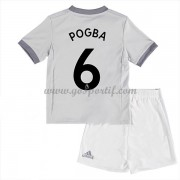 Manchester United maillot de foot enfant 2017-18 Paul Pogba 6 maillot third