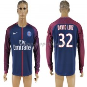 maillot de foot Ligue 1 Paris Saint Germain Psg 2017-18 David Luiz 32 maillot domicile manche longue..