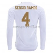 maillot de foot pas cher Real Madrid 2019-20 Sergio Ramos 4 maillot domicile manche longue..