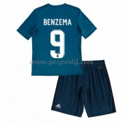 Real Madrid maillot de foot enfant 2017-18 Karim Benzema 9 maillot third..